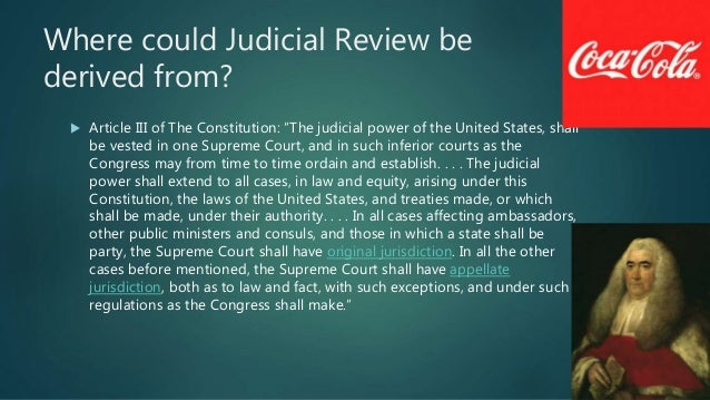 constitutional basis for judicial review